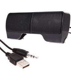 Mini Portable USB Stereo Speaker Soundbar for Notebook Laptop Mp3 Phone PC - intl