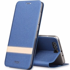 Cheaper Mofi Flip Pu Leather Phone Cases For Huawei P10 Plus Contrast Color Cover Shockproof Intl