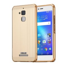 Mooncase Case For Asus Zenfone 3 Max Zc520Tl Luxury Metal Aluminum Bumper Detachable Brushed Pc Hard Back 2 In 1 Cover Ultra Thin Frame Gold Intl Reviews