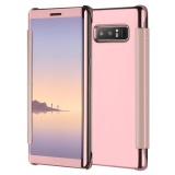 Discounted Mooncase Case For Samsung Galaxy Note 8 Ultra Thin Flip Specular Mirror Protective Cover Case With Smart Sleep As Shown Intl