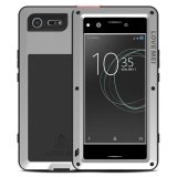 Mooncase Case For Sony Xperia Xz Premium Waterproof Shockproof Snowproof Dustproof Durable Aluminum Metal Gorilla Heavy Duty Full Body Protection Case Silver Intl Coupon Code