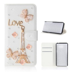 Moonmini Case For Iphone X Bling Diamond Rhinestones Pu Leather Wallet Case Flip Stand Card Slots Cover With Magnetic Closure Eiffel Tower Intl Compare Prices