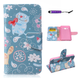 Price Moonmini Pu Leather Stand Flip Case Cover For Samsung Galaxy On5 G5500 Blue Moonmini China