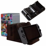 Best Rated Multi Function Charging Stand 6 Pcs Game Storage Pro Controller Dock For Nintendo Switch Intl