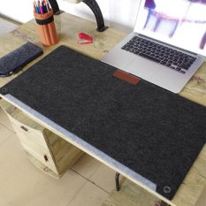 Multi-function Large Size keyboard Felt Mouse Pad Writing Pen Desk Mat Organizer - intl