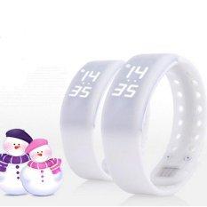 Multiple Smart Bracelet Wristband Watch Pedometer Mini H5(White) Intl Shopping