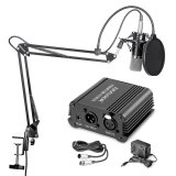 Coupon Neewer Nw 700 Professional Condenser Microphone Nw 35 Suspension Boom Scissor Arm Stand With Built In Xlr Cable And Mounting Clamp Nw 3 Pop Filter 48V Phantom Power Supply With Adapter Kit