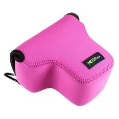 Cheaper Neopine Neoprene Shockproof Soft Case Bag With Hook For Panasonic Gx8 Magenta Intl