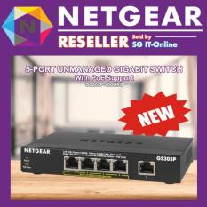 Get The Best Price For Netgear 5 Port Ethernet Unmanaged Switch With Poe Support Gs305P 100Uks