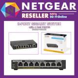 Discount Netgear Gs308P 8 Port Poe Gigabit Desktop Switch Power Budget 53Watts Metal Casing