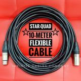 Retail Neutrik Xlr With Canare Star Quad Cable 10 Meter