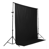 Sale New 6 X 9 Ft Photography Screen Muslin Backdrop Photo Studio Background Black Intl On China