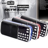 Deals For New Arrival Portable Digital Stereo Fm Mini Radio Speaker Music Player With Tf Card Usb Aux Input Sound Box Blue Black Red Intl