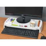 New Elegance Monitor Stand White For Sale