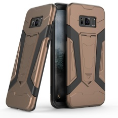 Where To Buy New Fashionable Shockproof Armor Hybrid Absorption Rugged Combo Double Colors 2 In 1 Tpu Soft Silicon Pc Hard Dual Layers Protective Phone Back Case For Samsung Galaxy S8 Plus Cover Mobile Phone Bag Pouch Shell With Stand Intl