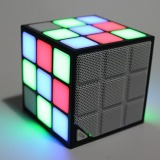 Deals For New Gift Mini Magic Cube Colorful Wireless Portable Bluetooth Speaker Led Flash Light With Tf Card Handsfree Intl