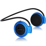 New Mini 503 Neckband Sport Wireless Bluetooth Handsfree Stereo Headset Headphone Earphone For Mp3 Player Blue Intl Reviews