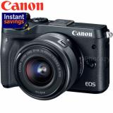 Discount New Model Canon Eos M6 Ef M 15 45Mm Is Stm Lens Black Black Canon On Singapore