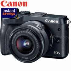 Sale New Model Canon Eos M6 Ef M 15 45Mm Is Stm Lens Black Black Canon Online