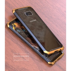 Coupon New Protective Metal Pc Frame Aluminum Alloy Toughened Circle Arc Glass Back Cover Case For Samsung Galaxy S8 Intl