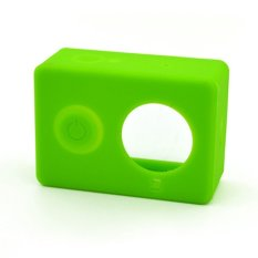 New Silicon Protective Case Soft Rubber Cover Skin For Xiaomi Yi Sport Camera Green -intl