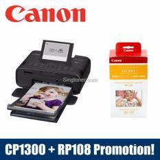 Singapore Warranty Canon Selphy Cp1300 Mobile Wi Fi Printer Black Pink White Rp108 Reviews