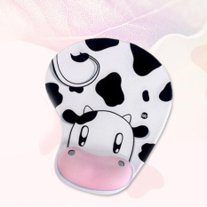 New Skid Resistance Memory Foam Comfort Wrist Rest Support Mouse Pad Cow - intl