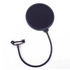 New Studio Microphone Mic Windscreen Pop Filter Mask Shield Black Intl Review