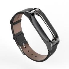New Version Original Mijobs Leather Strap For Xiaomi Mi Band 2 Metal Leather Screwless Wristbands Replace Bracelet For Miband 2 Intl On Line