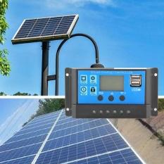 Niceeshop 10a Solar Charger Controller Solar Panel Battery Intelligent Regulator With Usb Port Display 12v/24v - Intl By Nicee Shop.