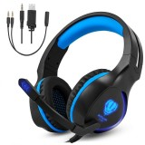 Top 10 Niceeshop 3 5Mm Game Gaming Headphone Headset Earphone Headband With Microphone Led Light For Laptop Tablet Mobile Phones Mobile Phones Or Ps4 Xbox One Blue Intl