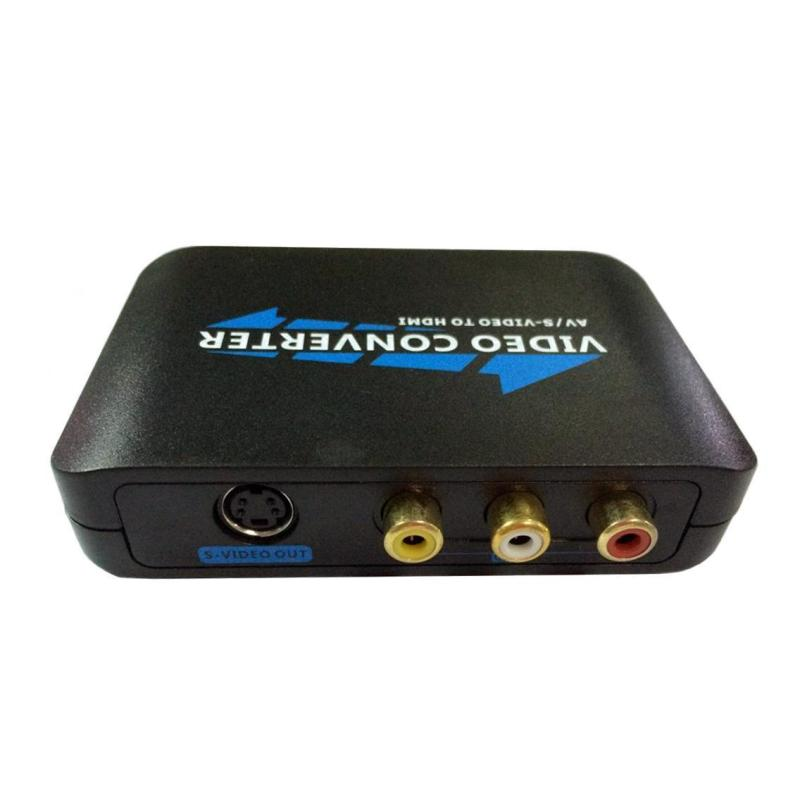niceEshop 3RCA AV CVBS Composite S-Video R/L Audio To HDMI Converter Adapter Upscaler Support 720P/1080P With 3RCA S-Video Cable For DVD VCR PS2 PS3 Xbox HDTV - intl Singapore
