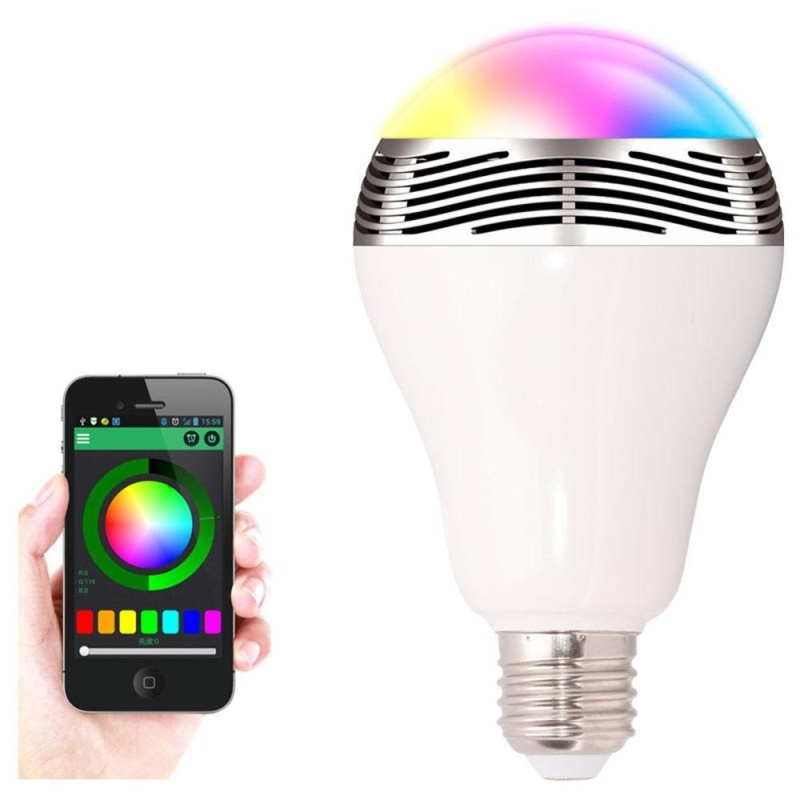 niceEshop Bluetooth Smart LED Light Bulb With Integrated Speaker, Smartphone Remote Controlled Lights Multicolored Color Changing Party Lights Wireless Bluetooth Speaker Bulb - intl Singapore