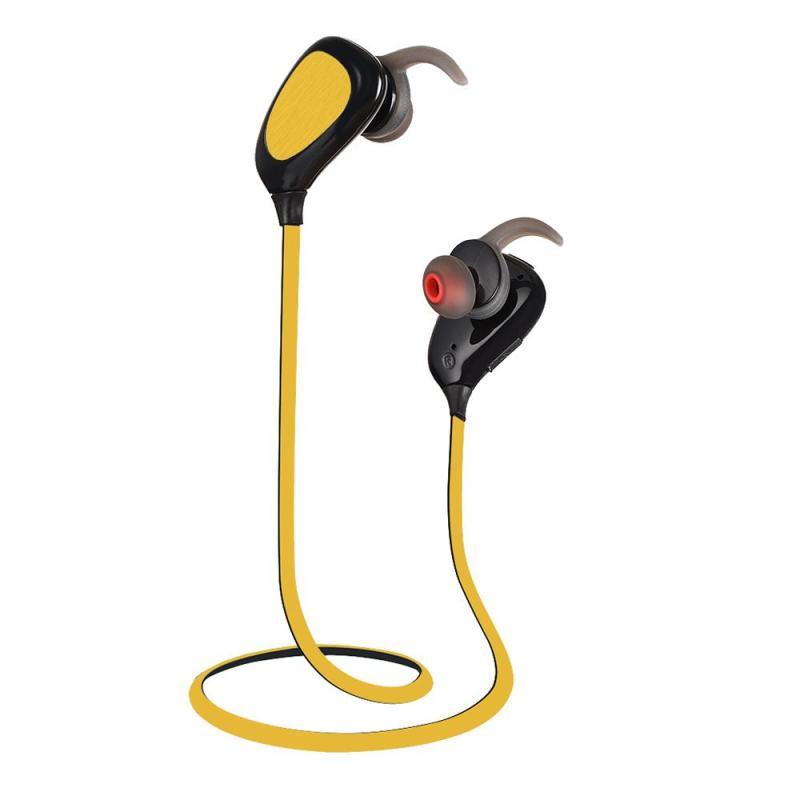 niceEshop In-Ear Earbuds Wireless Earphones Bluetooth Headphones Sport Wireless Sweatproof Earphones Bluetooth 4.1 For Running, Yellow Singapore