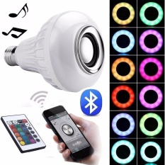 Great Deal Niceeshop Light Bulbs Led Rgb White Color Music Light Bulb E27 Wireless Smart Dimmable Bluetooth Control Built In Audio Speaker With Remote Control For Home Stage Party Decoration Intl