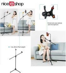 Best Offer Niceeshop Music Mic Microphone Stand Tablet Mount With 360° Swivel Adjust Holder Intl