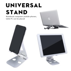 Top Rated Niceeshop Oxoqo Foldable Tablet Cell Phone Stand Portable Adjustable Desktop Multi Angle Stand Holder For Iphone Ipad Samsung Tablet And All Smart Phone Devices Silver Intl