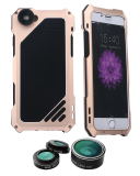 Wholesale Niceeshop Oxoqo Iphone 6 Plus 6S Plus Lens Kit 3 In 1 Fisheye Macro Wide Angle Camera Lens With Ip54 Dustproof Shockproof Aluminum Case 5 5 Inches Gold