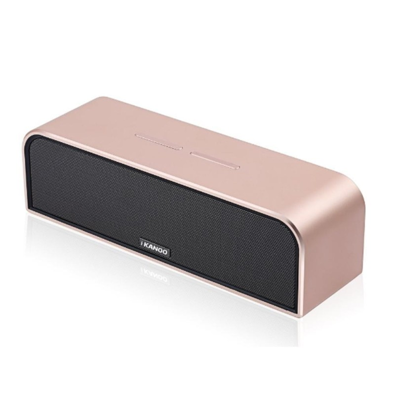 niceEshop Portable Wireless Bluetooth Speaker With Mic Hands-free Calls Stereo Music Surround Support TF AUX (Rose Gold) - intl Singapore
