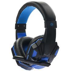 niceEshop Soyto 830 3.5mm Game Gaming Headphone Headset Earphone Headband With Mic For PC (Blue)