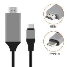 Niceeshop Usb C To Hdmi Cable,2.0m/6.6ft Usb 3.1 Type C To Hdmi High-Speed Male Cable Adapter Connecting Macbook,macbook Pro,dellxps13,chromebook Pixel,s8/s8plus Etc With Hdmi Port Hdtv/projector/monitor By Nicee Shop.