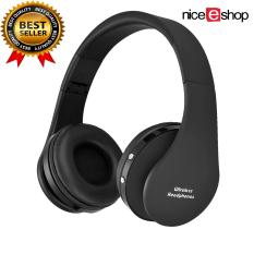 Niceeshop Wireless Bluetooth Foldable Stereo Headset (black)(export) By Nicee Shop.