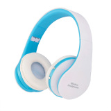Niceeshop Wireless Bluetooth Foldable Stereo Headset Blue White Export On China