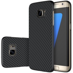 Best Nillkin Carbon Synthetic Fiber Pp Plastic Cover Hard Phone Case For Samsung Galaxy S7 Edge G9350 Black