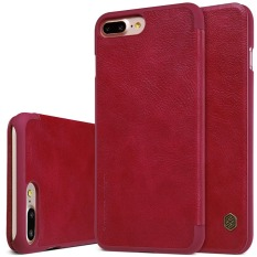 Review Nillkin Leather Case Cover Phone Bags For Apple Iphone 7 Plus Wine Red China