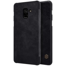 Low Price Nillkin Premium Ultra Thin Leather Flip Cover Case For Samsung Galaxy A8 Plus 2018 A8 2018 A730F Phone Bag Shell Cases With Card Pocket Intl
