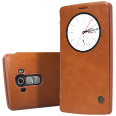 Promo Nillkin Slim Flip Leather Cover Quick Circle Case Smart Sleep Wake Protection Shell For Lg G4 Brown
