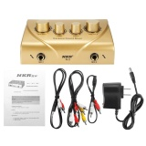 Low Price Nkr Karaoke Sound Mixer Echo Dual Mic Inputs With Cable For Stage Home Ktv 12V Gold Intl