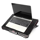 Review Notebook Pc Cooler Laptop Cooling Pad Air Cooled 5 Led Fans Black Intl Singapore