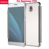 Cheap Nubula New Fashion 360 Degree Luxury Mirror Clamshell Hard Shell Flip Wallet Case For Samsung Galaxy J730 J7 Pro Soft Leather Flip Wallet Smart View Mirror Clear View Full Cover Case Intl Online